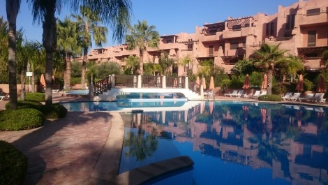 Appartement meublé dans résidence avec piscine et jardins