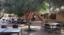terrasse fer forgé du restaurant