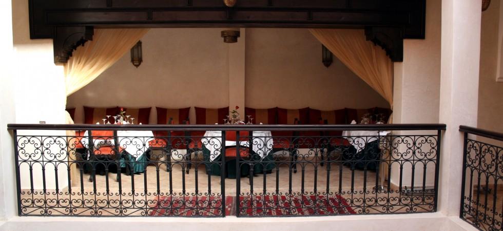 restaurant salon d'étage médina marrakech