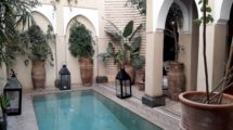 Riad with pool, topped with a penthouse in Dar El Bacha