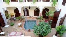 Riad – Maison d'hôtes, large et magnifique patio, très lumineux
