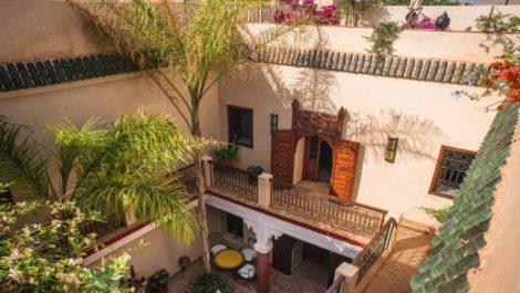 Riad traditionnel dans la médina de Marrakech, qualité irréprochable !