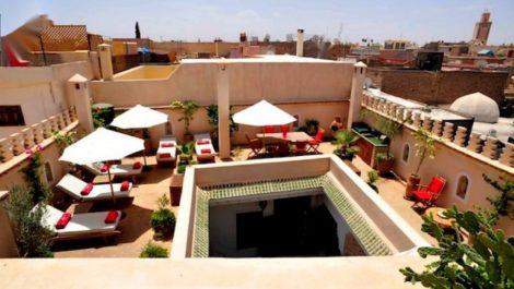 Riad haut standing doté d'excellentes finitions, dans la médina de Marrakech