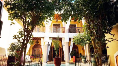Vaste Riad classé maison d'hôtes, belle piscine, SPA