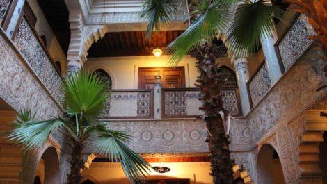 Maison d'hotes dans le quartier de Mouassine, donnant sur le Palais Dar El Bacha!