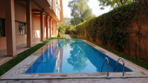 Marrakech, Hivernage, luxury apartment in residence with swimming pool