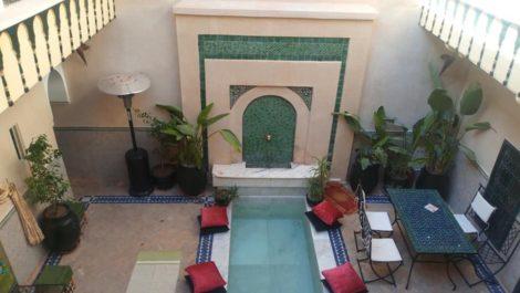 Riad agrée maison d'hôtes de 6 Chambres en activité à Marrakech