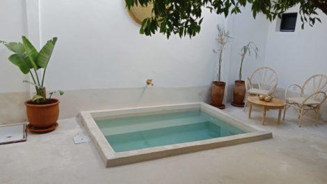 Marrakech : Très beau Riad épuré, bien placé et totalement rénové