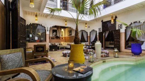 Marrakech : Splendide Riad classé maison d'hôtes, vue Atlas et jardins de la Mamounia