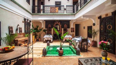 Marrakech : Riad de six chambres et SPA exploité en maison d'hôtes