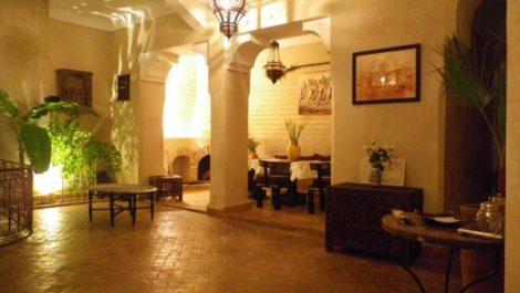 Marrakech : Riad agrée maison d'hôtes, cinq chambres, bassin
