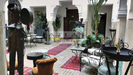 Charming and vast authentic riad with sober 19th century architecture