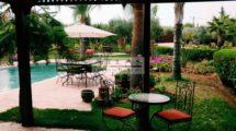 Marrakech : Villa et dépendance individuelle sur une propriété arborée de 5800 m²